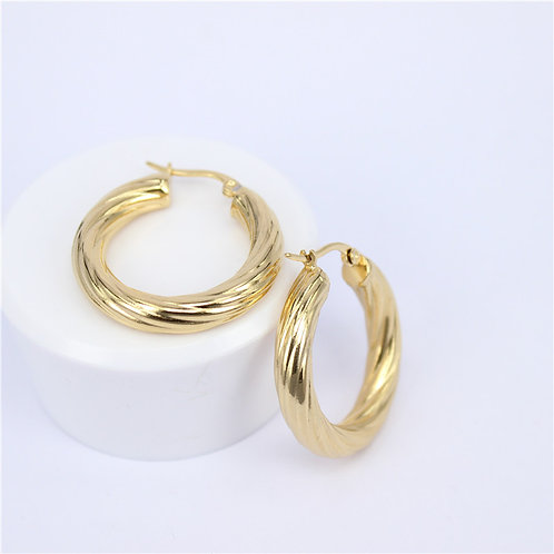 ALICIA 50mm - Gold Hoops Earrings