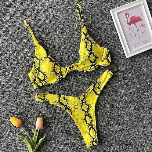 Sasha Snake Print Bikini Set
