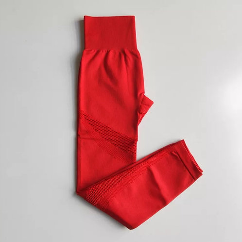 Stop N Stare Leggings - Red