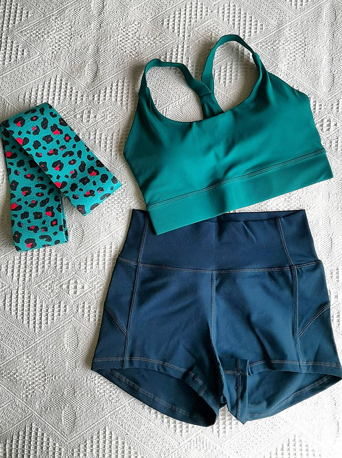 RV Kira Top + Hot Shorts Set - Turquoise Set