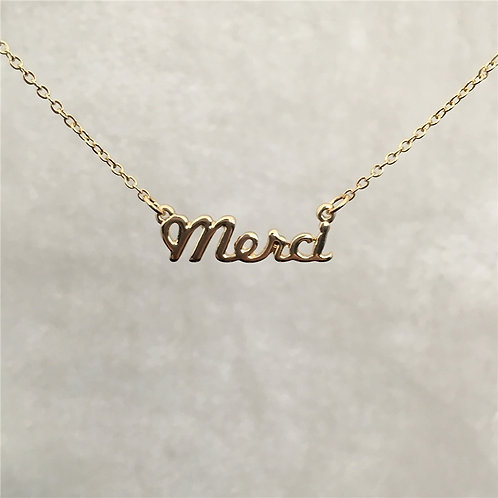 Merci mon chéri Necklace