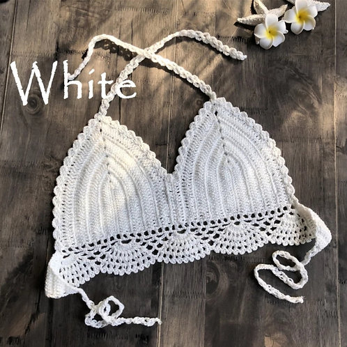 RV Crochet Halter #1 - White