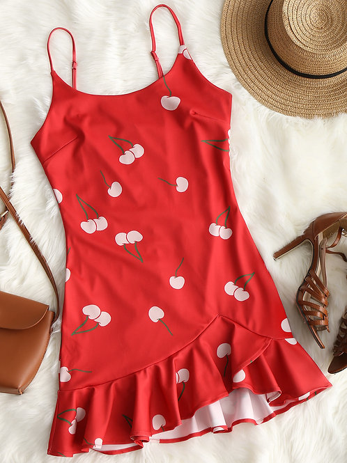 Baby Cherry Ruffle Dress
