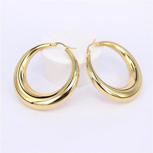 ISABEL 23mm - Gold Hoop Earrings