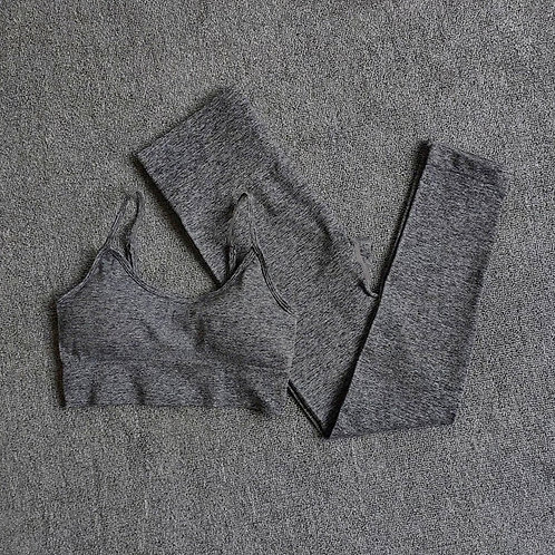 RV That Hot Chic Set Bra and Leggings - Dark Grey