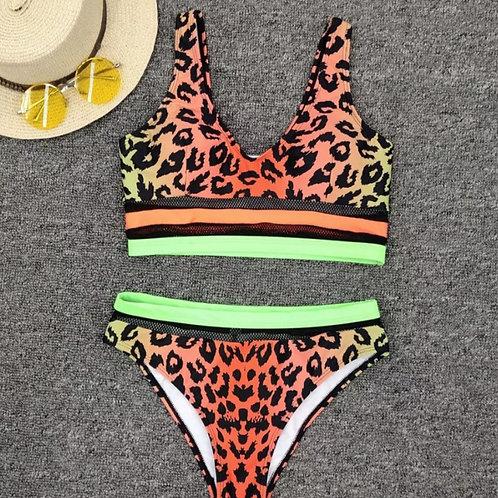 RV Funky Leopard Bikini Set