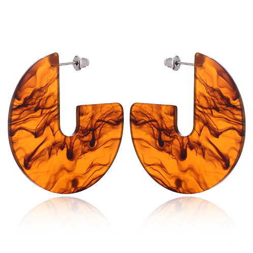 The Artist Earrings-Brown