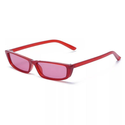 Paparazzi Sunglasses - Red Rims / Black Lens