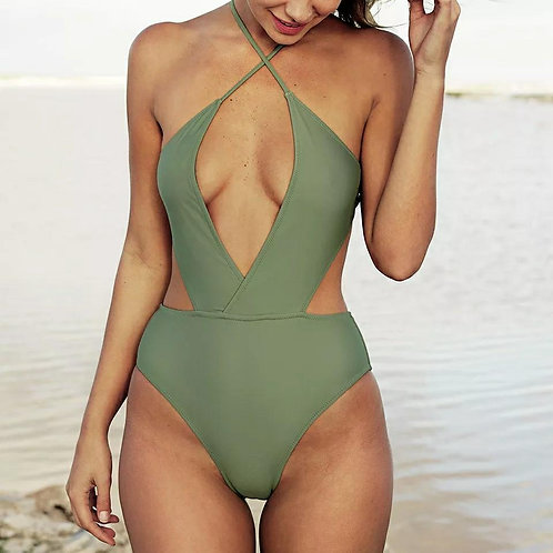 Olivia Deep V-Cut Swimsuit