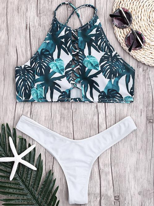 Belina Halter High Cut Bikini Set