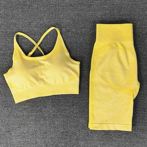 RV Gym Lover Shorts Set - Yellow