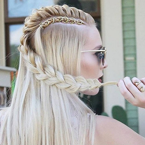 Boho Hair Rings 10PCS - Gold