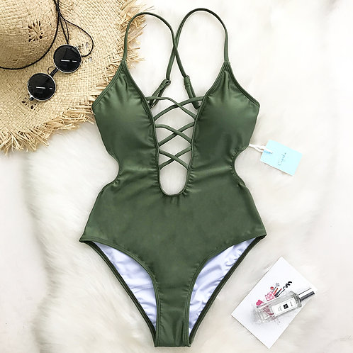Sonia Lace Up Swimsuit