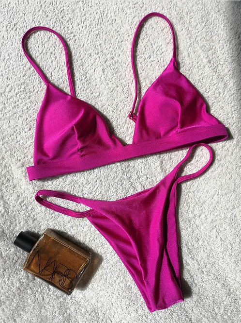 Ziggy Brazilian Bikini Set - Hot Pink