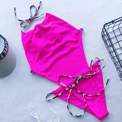 RV Leopard Halter Swimsuit