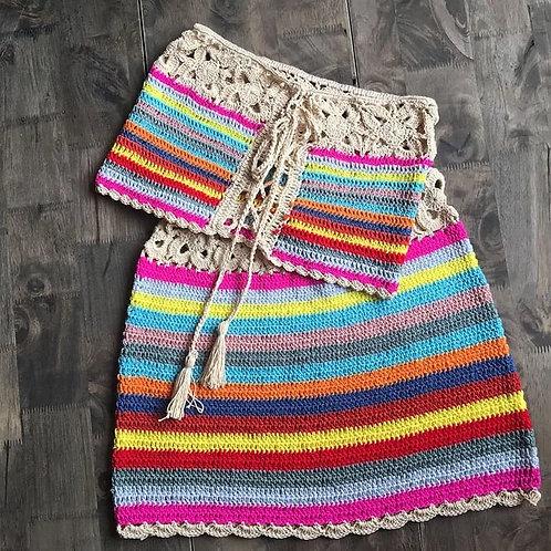 Luna Crochet Set-Khaki