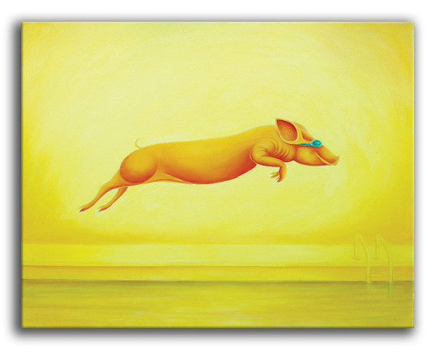 Jumping pig