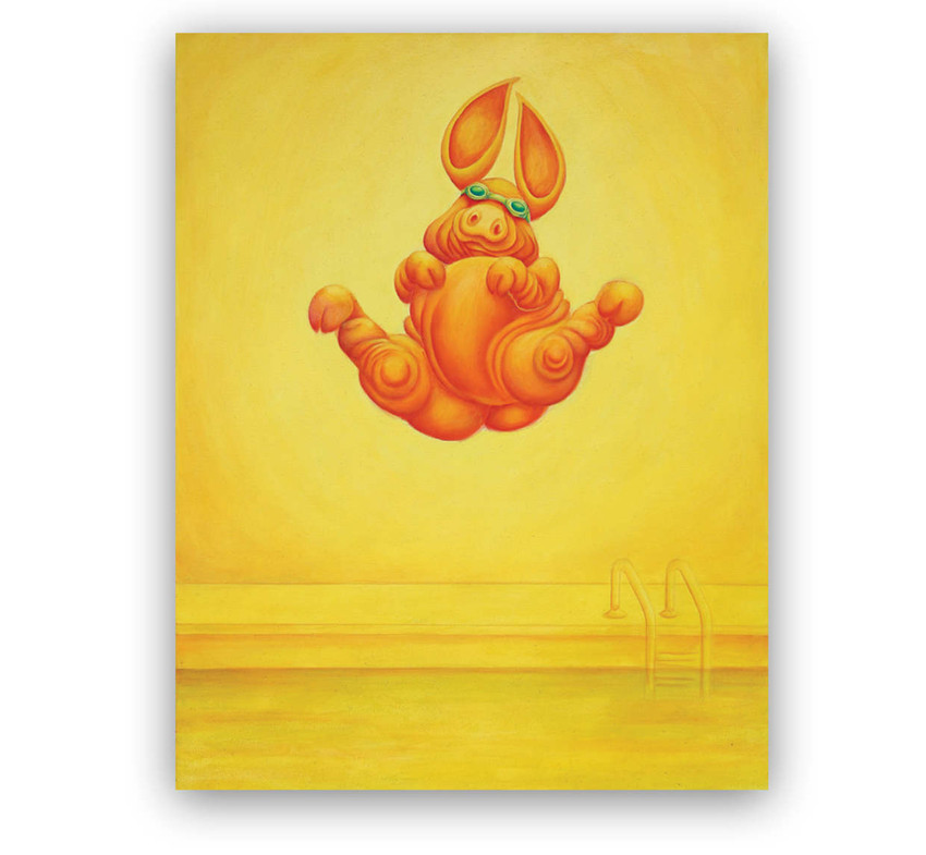Pig: Oil on canvas 70 x 90 cm