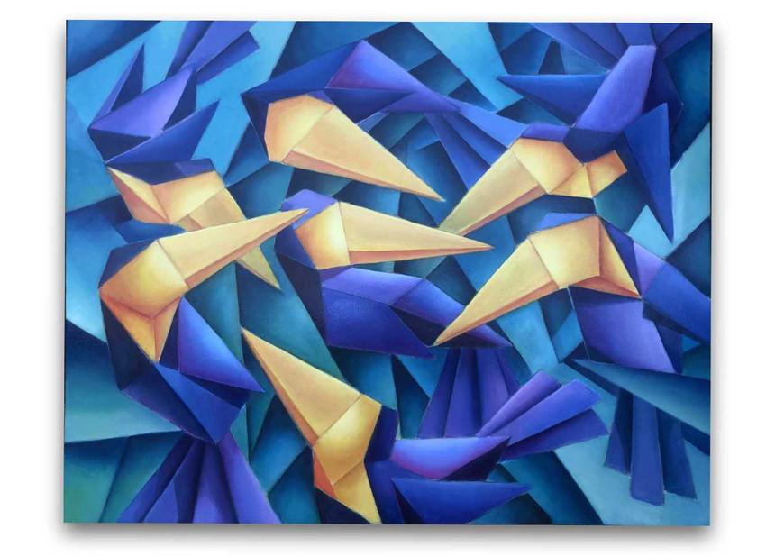 Tucans: Oil on canvas 80 x 100 cm