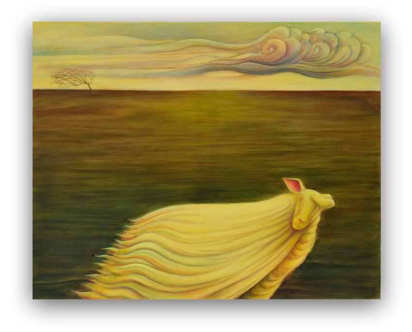 Winter: Oil on canvas 80 x 100 cm
