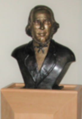 Bronze portrait bust.