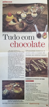 Tudo com chocolate