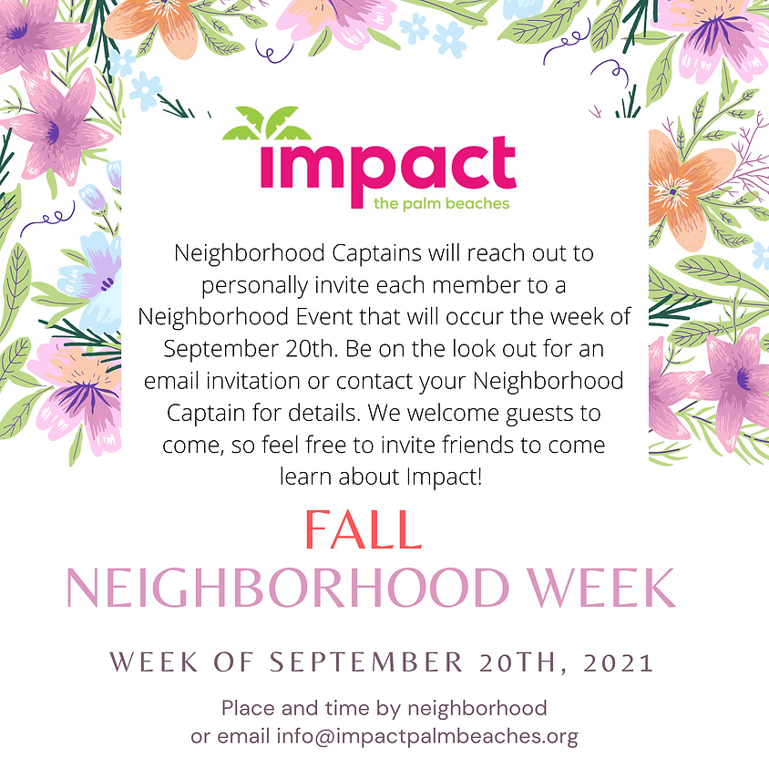 Neighborhood Week-Meet Your Sisters!