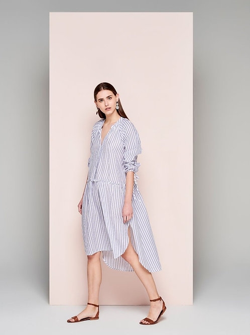 Dream Kiwi Dress Blue and White stripe