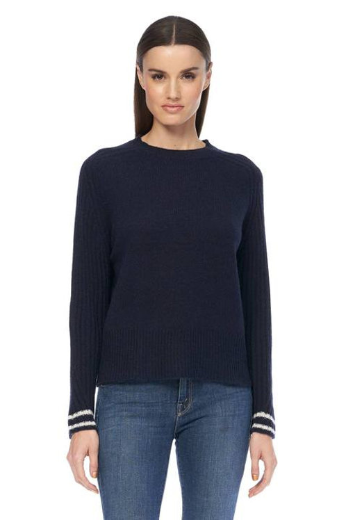 360 CASHMERE CHRISELLE CREW NECK SWEATER
