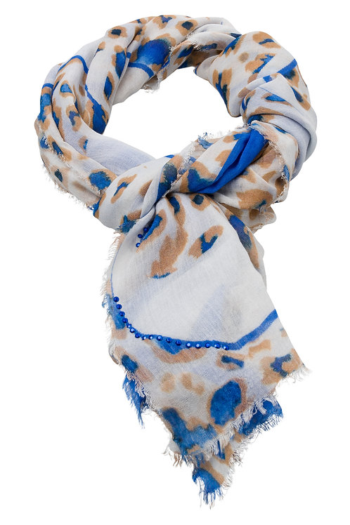 MARC AUREL RECTANGULAR SCARF WITH PRINT