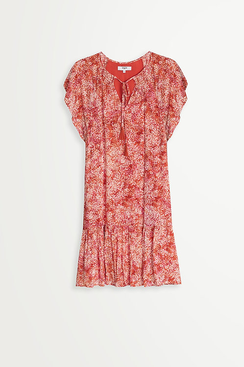 SUNCOO CARMEN FLORAL PRINT DRESS