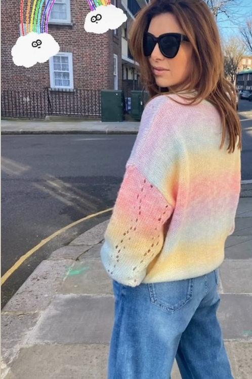 LIBBY LOVES TORI RAINBOW SWEATER