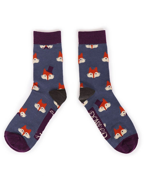 POWDER MENS FOX FACES ANKLE SOCKS