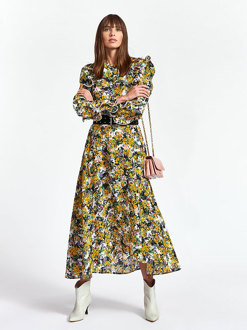 ESSENTIEL ANTWERP ZILBY RUFFLED MAXI DRESS