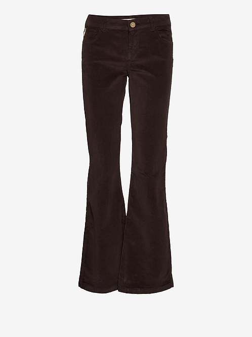 MOS MOSH VICTORIA CORDUROY FLARE PANT BROWN