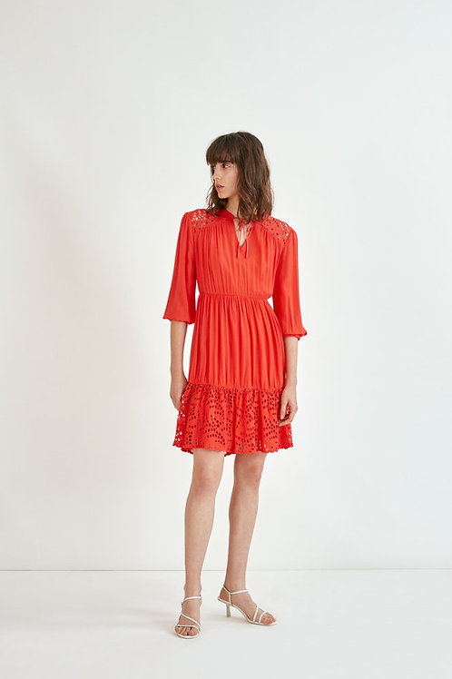 SUNCOO ROBE CERYS DRESS IN GERANIUM