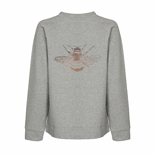 NOOKI BERTIE MARL GREY SWEATSHIRT with MOTIF