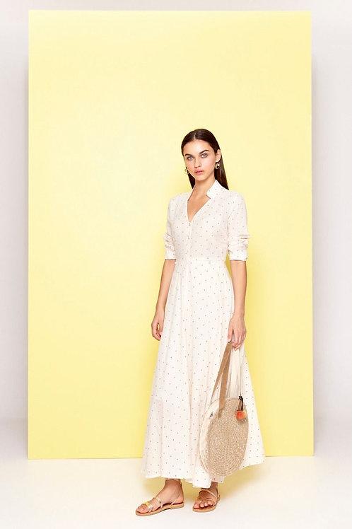 Dream Opema White Dress red polka dots