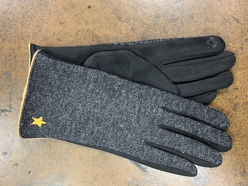 GLOVES WITH YELLOW TRIM