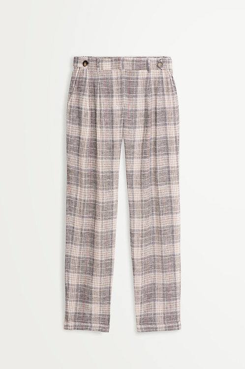 SUNCOO DORIS PRINT DARTED PANTS