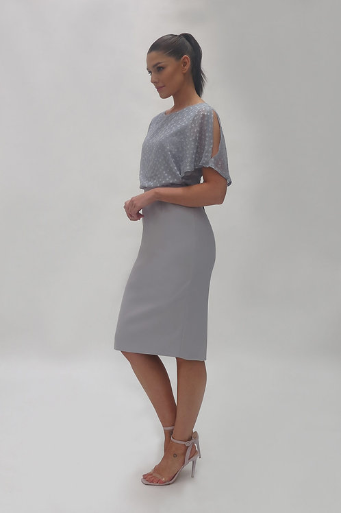 FeeG Grey Sheer Kimono Top Dress 7362/131