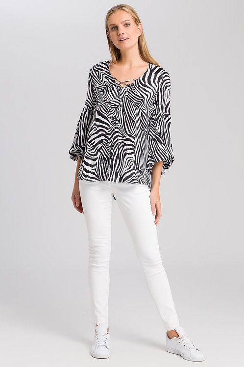 MARC AUREL TUNIC WITH ZEBRA PRINT