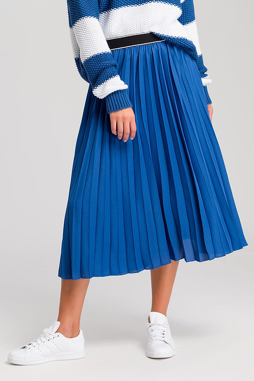 MARC AUREL PLEATED SKIRT WITH WRITING ON WAISTBAND