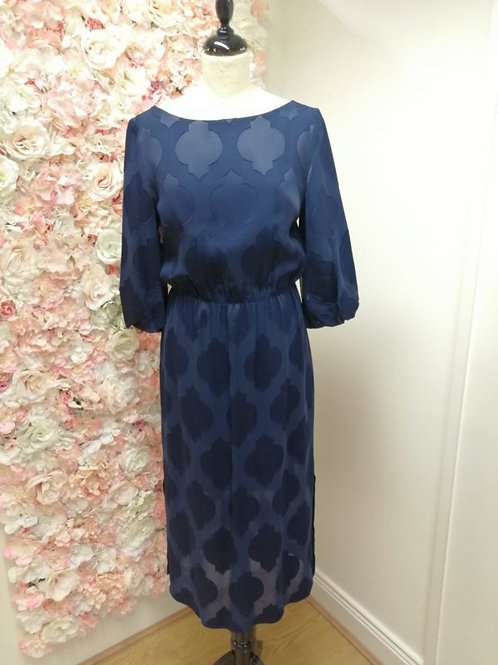 FeeG Navy Geometric Dress 7407/105