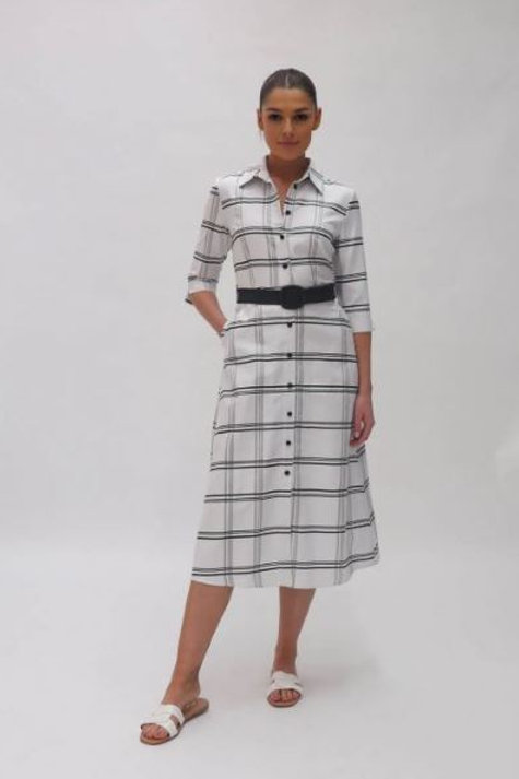 FeeG large check dress 7432/125