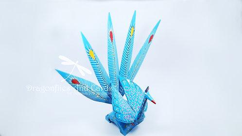 Blue Short Peacock