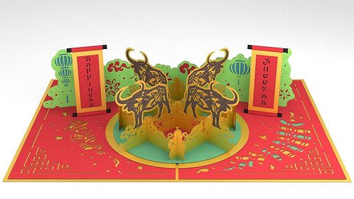 Lunar New Year - Year Of The Water Buffalo - 3-pack