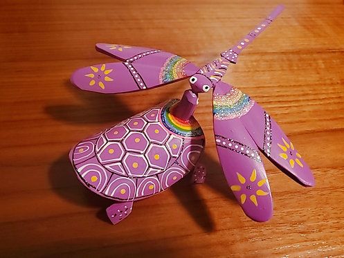 Dragonfly And Turle Set - Purple
