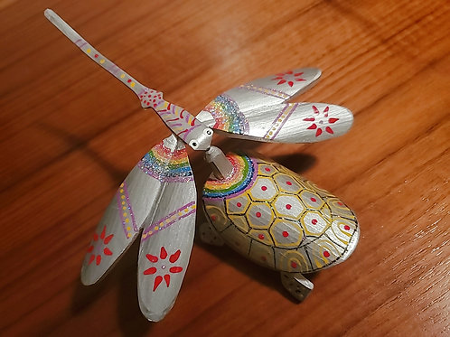 Dragonfly And Turle Set - Silver