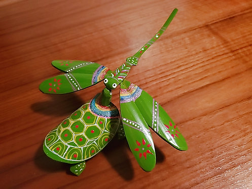 Dragonfly And Turle Set - Green